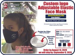 Dubwear Adjustable Custom Mask Promo 202
