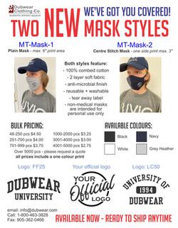 Dubwear Mask Promo 2021