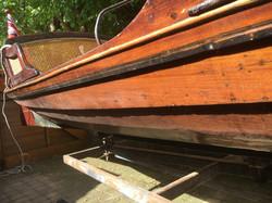 Double Rowing Skiff in Mahogany