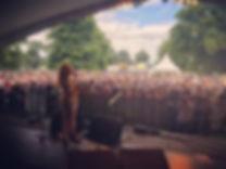 Playing with Stella Parton at Cornbury festival