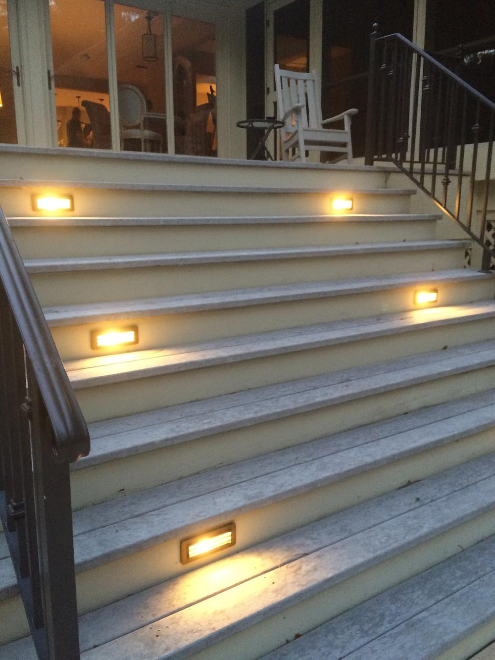 Low Voltage Brass Deck Lighting