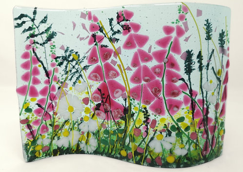 Foxglove Fused Glass  S-Wave Artwork