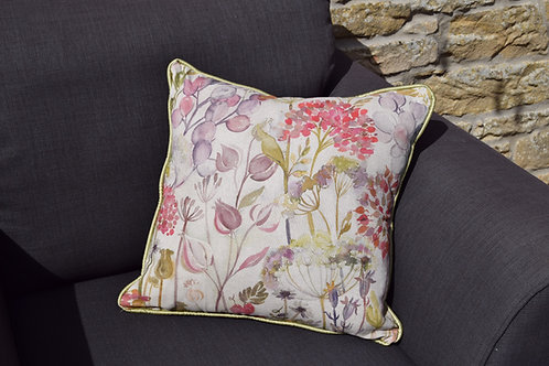 'Lilac Flowers' Handmade Cushion