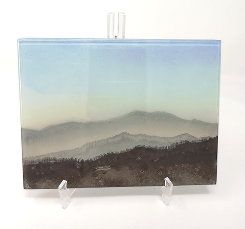 Lakeland Dusk Multilayer Fused Glass Landscape