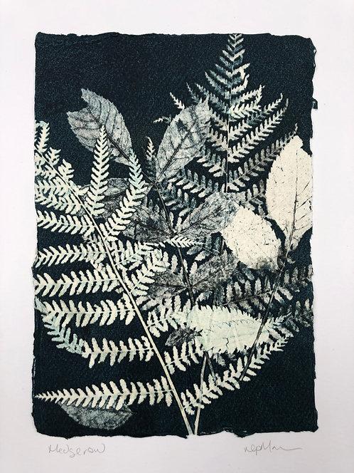 'Hedgerow' Original Mono Print