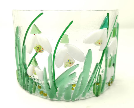 Snowdrop Fused Glass Arc