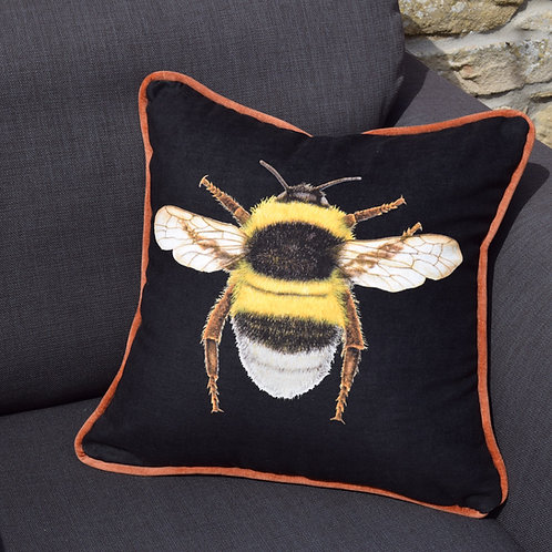 'Big Bee' Handmade Cushion by Jenni