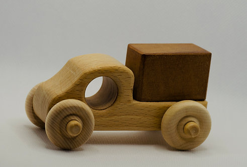 Handmade Wooden Square Backed Truck