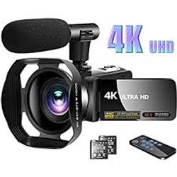 Two 4K Camcorders with Boom Mic