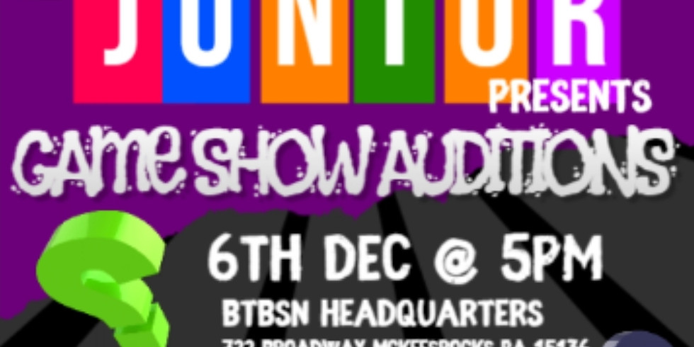 Junior Game Show Auditions
