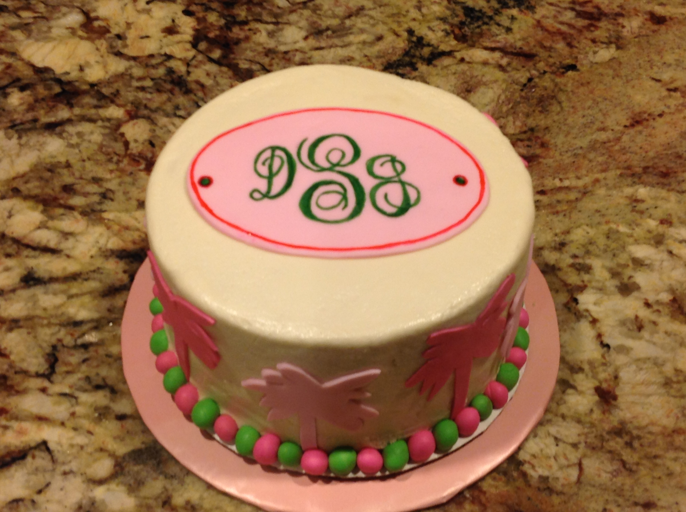 Personalized Monogram Cake