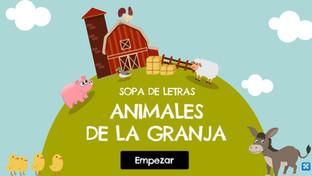 Sopa de letras: Los animales de la granja