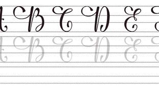 Caligrafía: Letras cursivas
