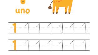 Caligrafía: Trazando números