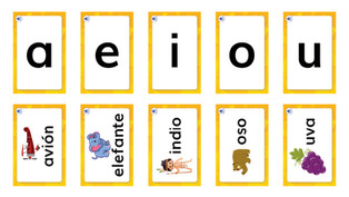 Método Silábico: fichas sílabas
