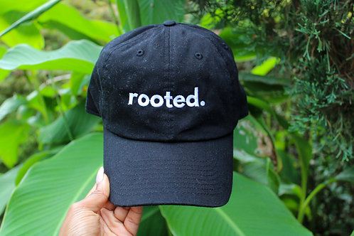 rooted. dad hat