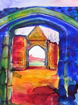 Tithe Barn Arches Llanthony Secunda Priory