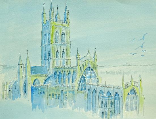 'Gloucester Cathedral original sketch'