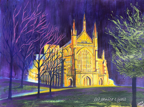 'Winchester Cathedral at Night'