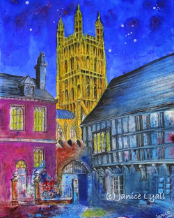 Parliament Room At Night by Janice Lyall