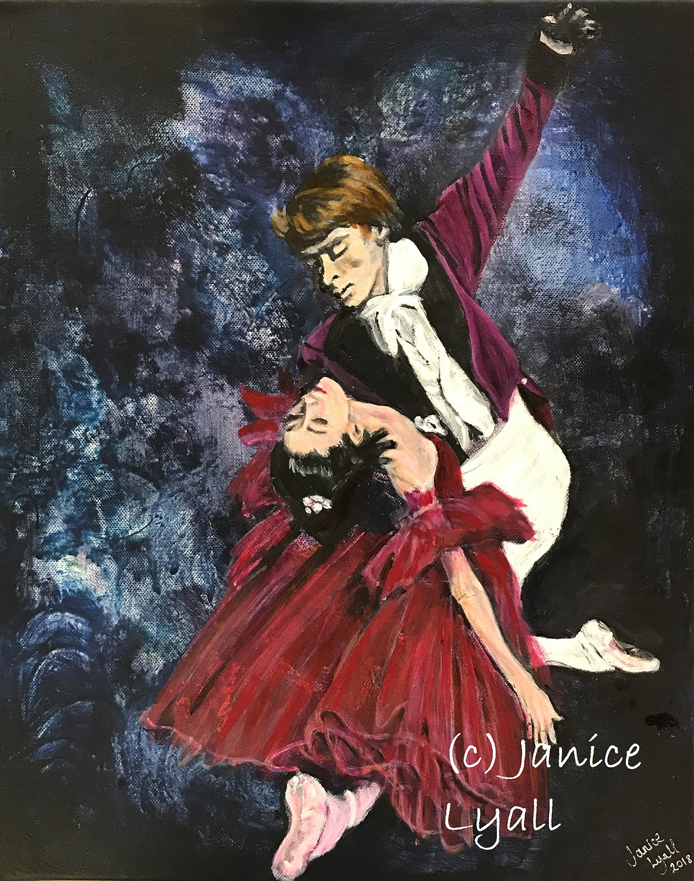 Ballet painting by Janice Lyall 'Red Dress'