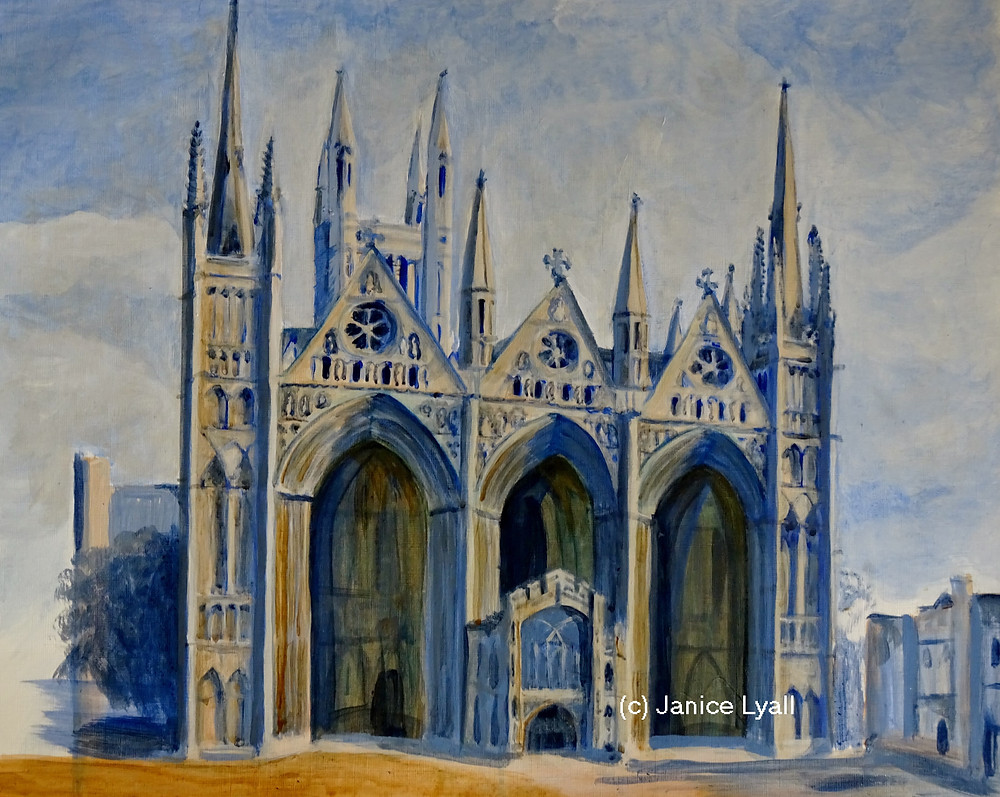 peterborough Cathedral painting by Janice Lyall