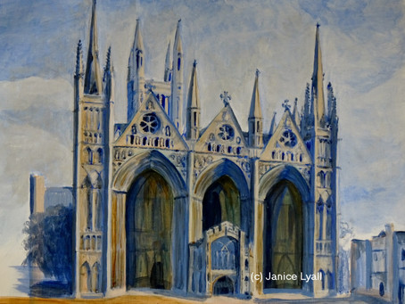New, emerging portfolio of Peterborough Cathedral paintings