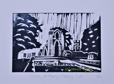 Choir, St Mary's York' - Linoprint