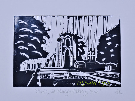 Choir, St Mary's York' - Linoprint