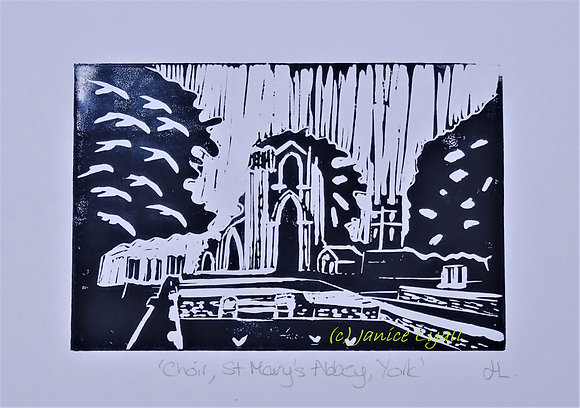 Choir St Mary's York Linocut