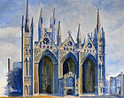 Peterborough Cathedral the west front co