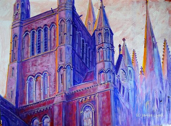 'Peterborough Cathedral Reaching Upwards'