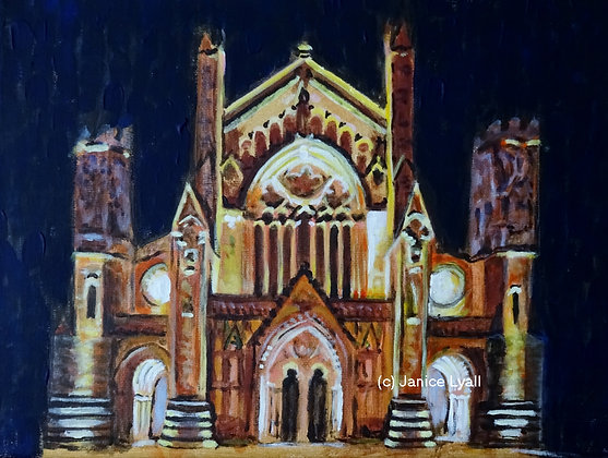'Hereford Cathedral At Night'