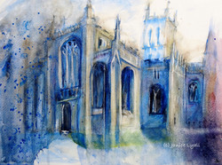 Gloucester Cathedral in the Rain