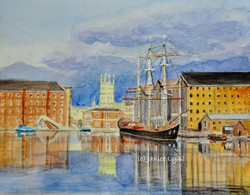 Gloucester Docks, Past, Present and Future copyright.JPG