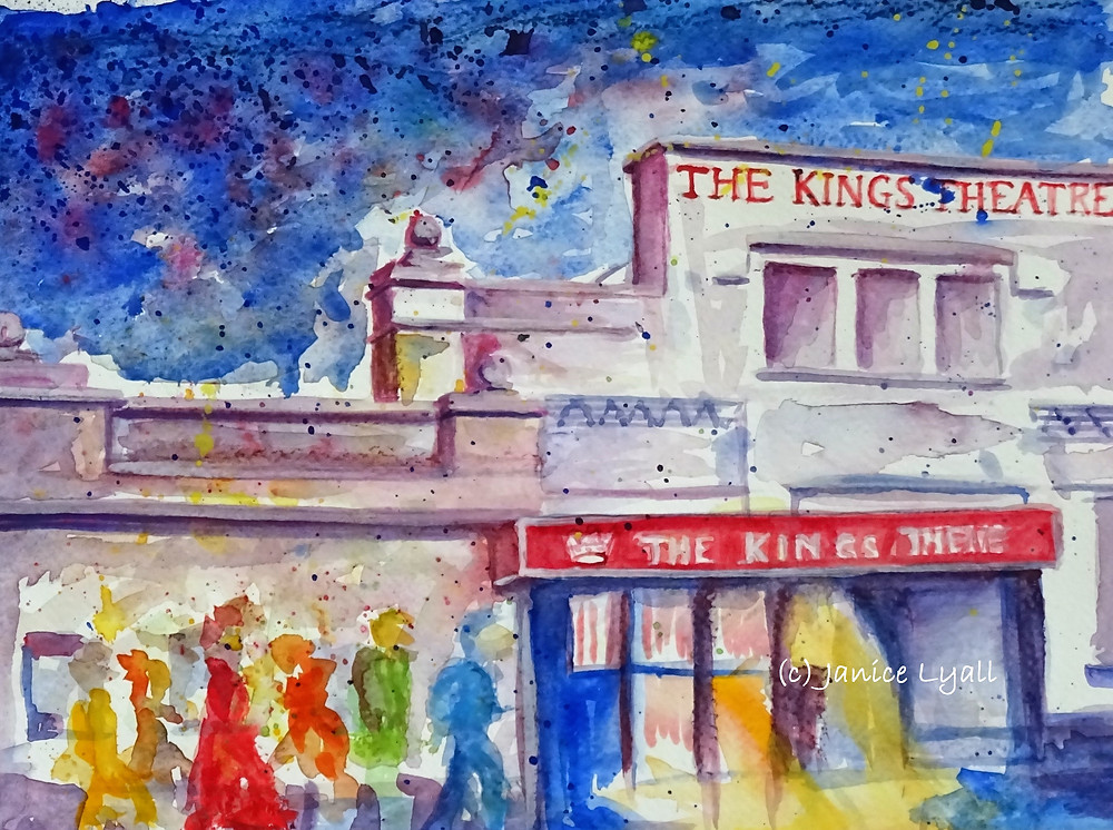 Painting by Janice Lyall of King's Theatre