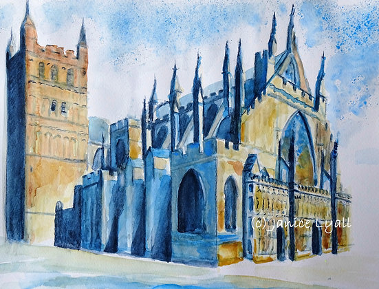 Exeter Cathedral with open doors