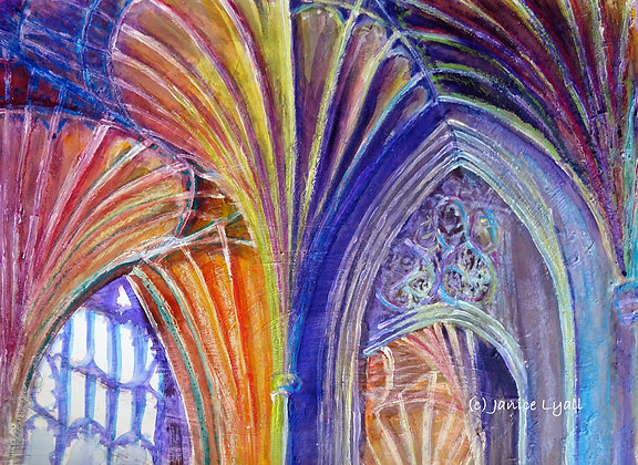'Peterborough Cathedral looking upwards'