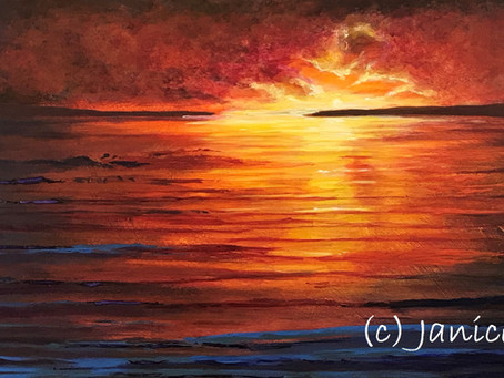 The pleasure of painting a sunset