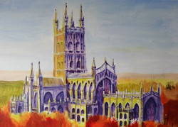 Gloucester Cathedral in Autumnal Light
