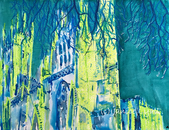 'York Minster behind the branches'