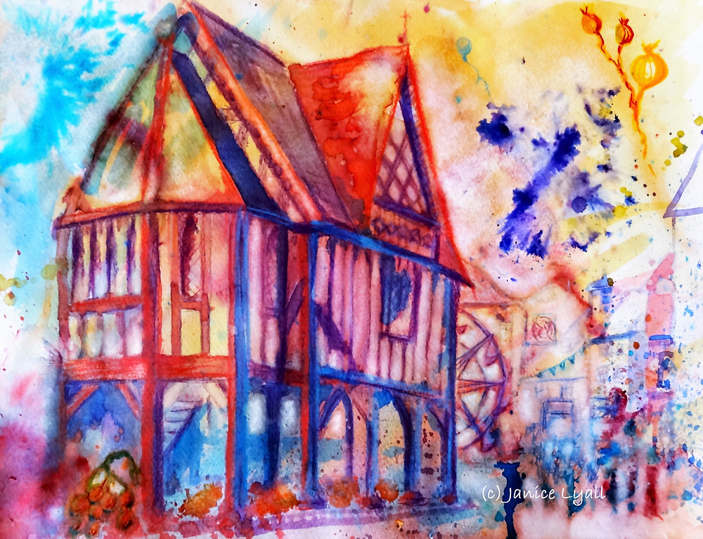 Newent painting by Janice Lyall