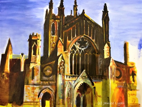 'Hereford Cathedral in Sun'