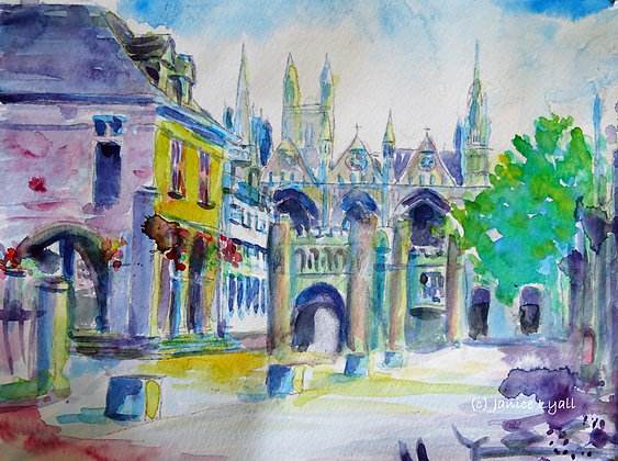 'Peterborough Cathedral Part of the City'
