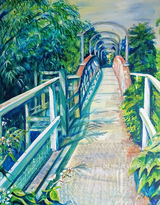 'Llanthony Lock House Footbridge'
