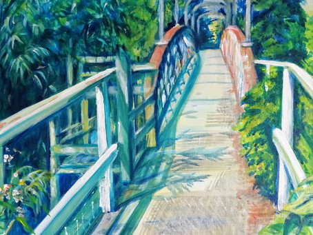 A footbridge to tranquillity