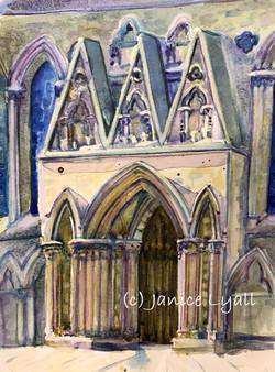 York Minster Icing Cake Entrance