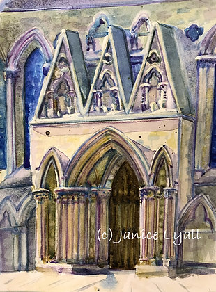 'York Minster Icing Cake Entrance'