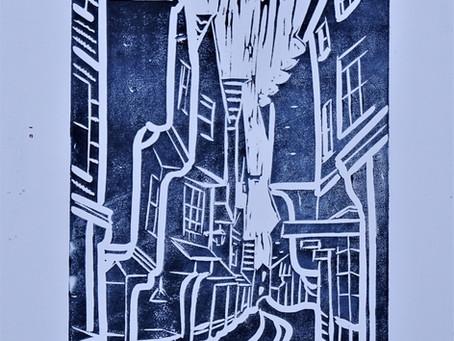 'Shambles, York' - Linoprint