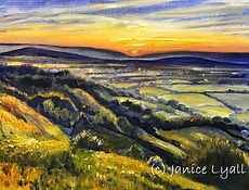 Janice Lyall 'Sunset over Gloucester'  C